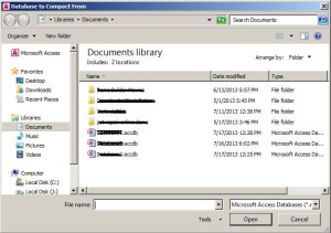Repair MS Access database files