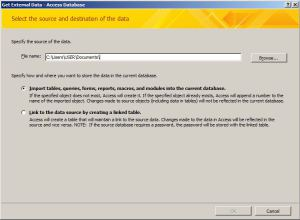 Access database file repair tool