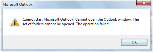 MS Outlook Error messages