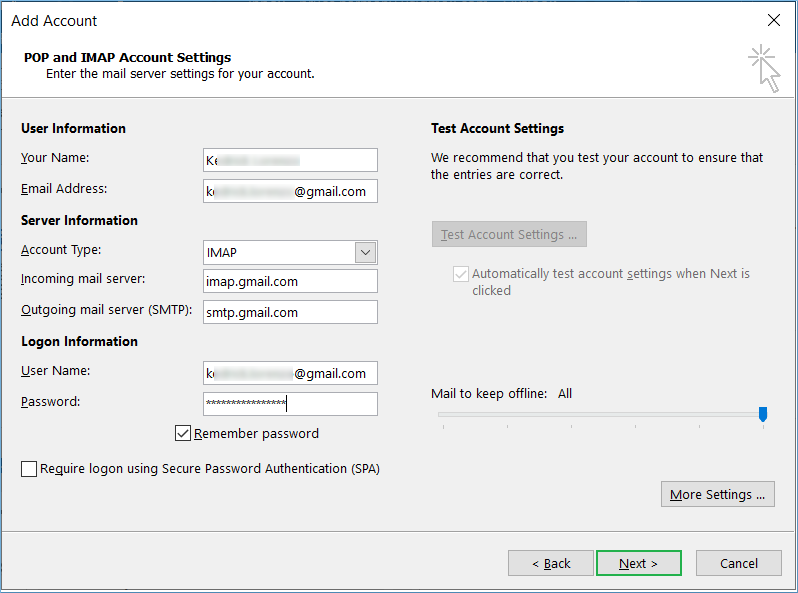 Step by step guide to Sync Gmail Account With MS Outlook